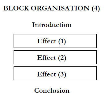 cause effect essay organization